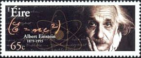 Albert Einstein on Irish postage stamp